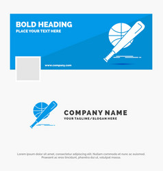 blue business logo template for baseball basket vector image