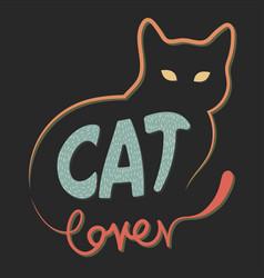 Cat lover vector