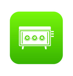 cd changer icon digital green vector image