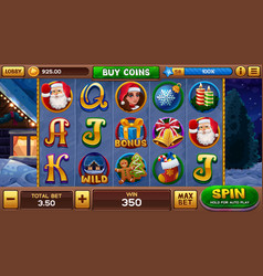 christmas background for slots game vector image