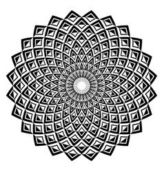 Circle geometric pattern vector