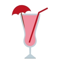 cocktail with umbrella umbrella isolated icon vector image