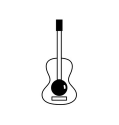 contour guitar acoustic intrument of music player vector image