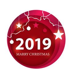 creative happy new year 2019 design happy new vector image