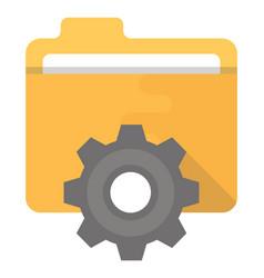 Data management flat icon vector