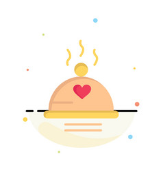 dinner food bbq love valentine abstract flat vector image