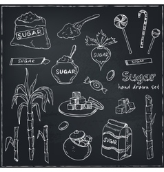 Doodle Set of sugar products vector