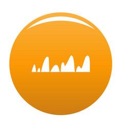 Equalizer tune radio icon orange vector