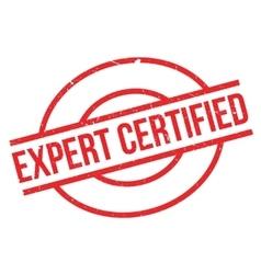 Expert Certified rubber stamp vector image