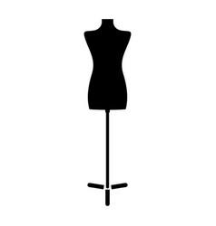 Fashion stand female torso mannequin the black vector