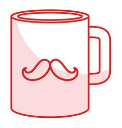 Fathers day gift mug vector