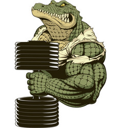 Ferocious strong crocodile vector
