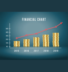 Financial chart up infographic diagram making vector