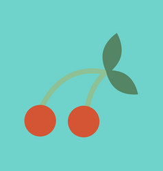 Flat icon on stylish background cherry fruit vector
