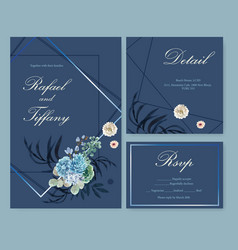 Floral ember glow wedding card design with vector