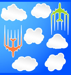 Flying airplane airliner jet transport icon vector