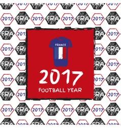 Football 2017 year vector