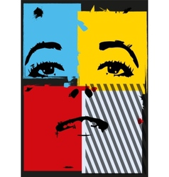 Girl in style a pop-art vector image