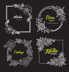 Hand drawn flower template best for your frame vector