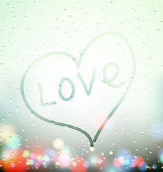 heart painted on sweaty Window vector image
