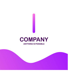 i company logo design with purple theme vector image