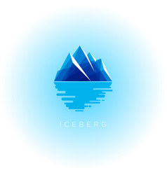 iceberg logo or emblem vector image