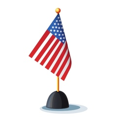Image of the American flag on the stand vector image