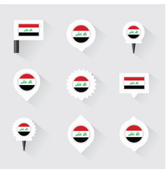 iraq flag and pins for infographic and map design vector image