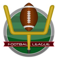 Isolated football emblem vector
