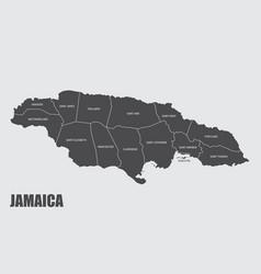 Jamaica administrative map vector