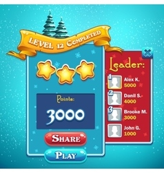 Level completed game window vector