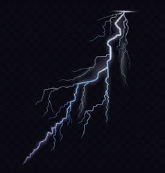 Lightning bolt thunderbolt glowing realistic vector