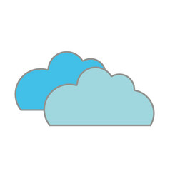 line color nature clouds weather in the sky icon vector image