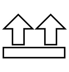 Move Arrows Up Contour Icon vector
