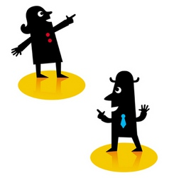 people pointing vector image