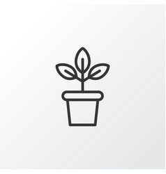 Plant pot icon symbol premium quality isolated vector