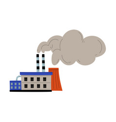Pollutive industry plant factory emitting smoke vector