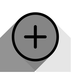 positive symbol plus sign black icon with vector image