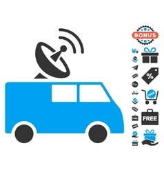 Radio Control Car Icon With Free Bonus vector
