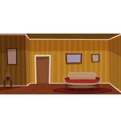Retro Living Room - Yellow vector