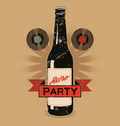 retro party vintage grunge style poster vector image