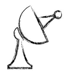 Satellite antenna communication broadcast signal vector