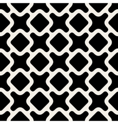 Seamless Black And White Rounded Shape vector image