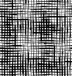 Seamless pattern of thick checkered brush strokes vector