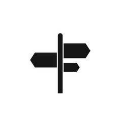 signpost icon direction arrow symbol simple sign vector image