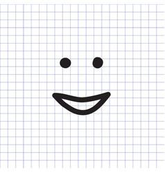 Smiley icon happy face symbol vector