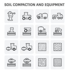 Soil compaction icon vector