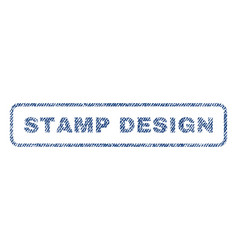 Stamp design textile stamp vector