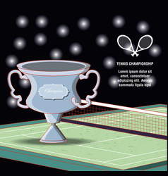 Tennis sport champion trophy vector