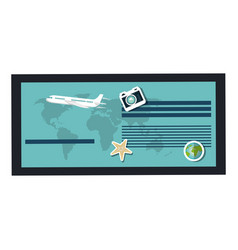 Tourism agency flyer icon vector